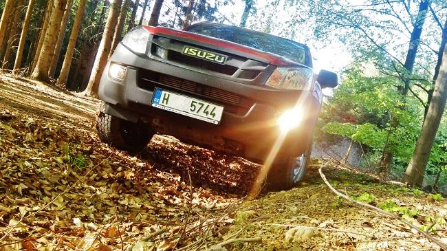 ISUZU D - MAX v lese jako doma (foto: ProScan)